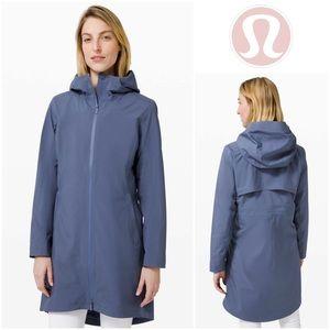 NWOT Lululemon Rain Rebel Jacket in Ink Blue